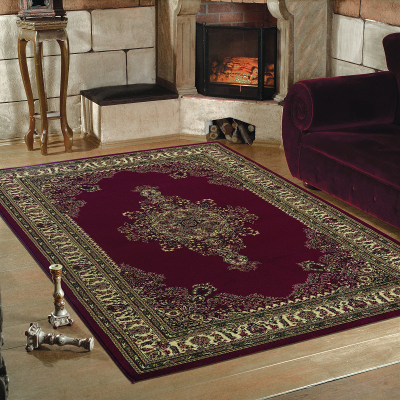 Classical Oriental Living Room Rug Marrakesh 0297 Red