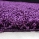 Shaggy pile living room Shaggy carpet pile height 3cm slim fit Purple