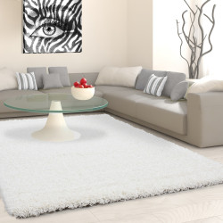 Shaggy stapel woonkamer Shaggy tapijt poolhoogte 3 cm slim fit crème