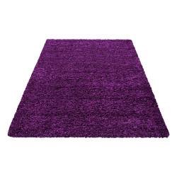 Shaggy carpet, high pile, long pile, living room shaggy, pile height 3cm, plain purple