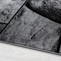 Modern Designer living room carpet with stone motif PARMA 9250 Black-grey