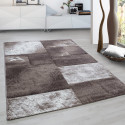 Modern Designer contour cut 3D living room carpet Hawaii 1710 Beige