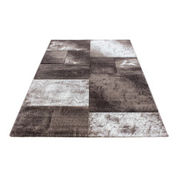 Modern Designer contour cut 3D living room carpet Hawaii 1710 Beige