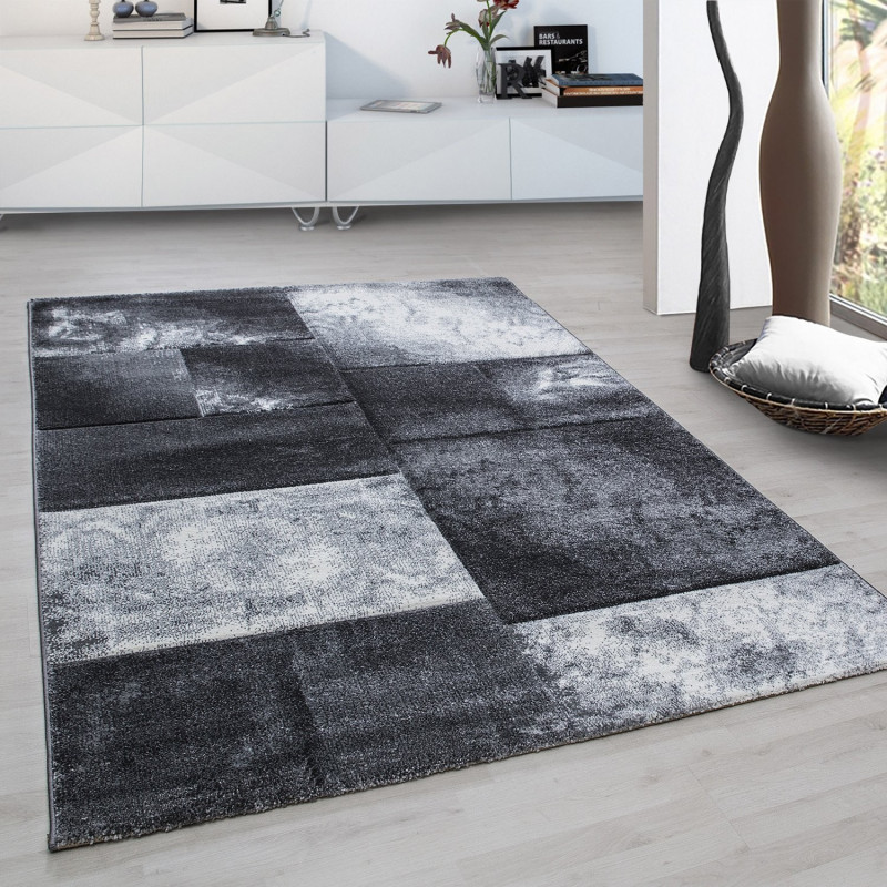 Modern Designer contour cut 3D living room carpet Hawaii 1710 grey