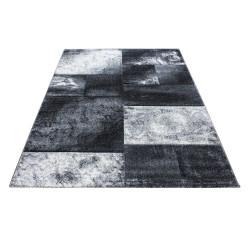 Tappeto da soggiorno 3D dal design moderno con taglio contorno Hawaii 1710 grigio