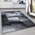 Modern Designer contour cut 3D living room carpet Hawaii 1720 grey