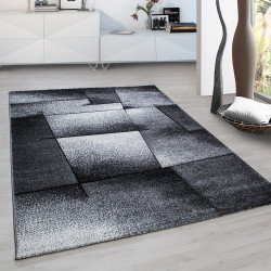 Moderner Designer Konturenschnitt 3D Wohnzimmer Teppich Hawaii 1720 Grau