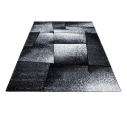 Modern Designer contour cut 3D living room carpet Hawaii 1720 grey