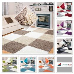 Hochflor Langflor Shaggy Teppich drei Farbig verschiedene Größen und Farben