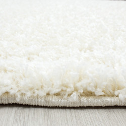 Moquette shaggy, pelo lungo, pelo lungo, soggiorno, altezza del pelo 3 cm, crema