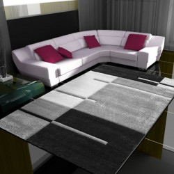 Moderne Designer 3D contour cut woonkamer tapijt Hawaii 1310 grijs