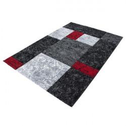 Modern designer contour cut 3D living room rug Hawaii 1330 red