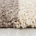 Structure à fibres longues Salon Shaggy Tapis à damier Marron Blanc Beige