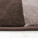 Modern Designer contour cut 3D living room carpet Hawaii 1310 brown